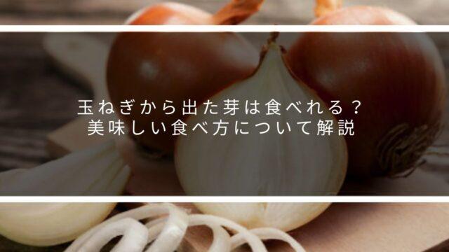 玉ねぎから出た芽は食べれる?