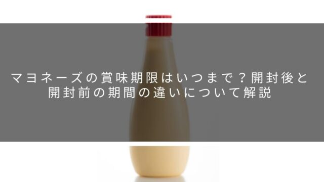 マヨネーズ賞味期限